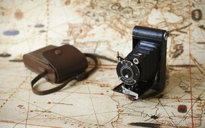 Picture background, map, camera