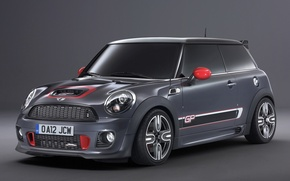 Picture grey, background, Mini, the front, hatchback, Mini, John Cooper Works