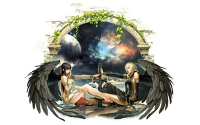 Picture girl, the game, sword, warrior, art, mabinogi 2 arena