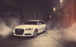 Picture car, machine, Audi, the building