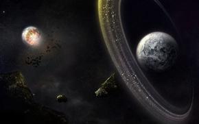 Picture planet, asteroids, belt