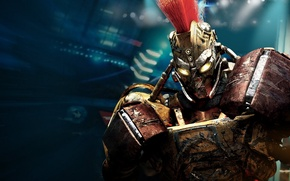 Picture metal, robot, scratches, Mohawk, real steel