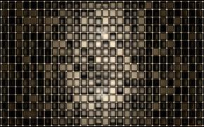 Wallpaper gold, black, deep, squares, shape