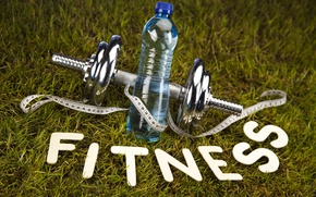 Picture water, bottle, fitness, line, fitness, dumbbell