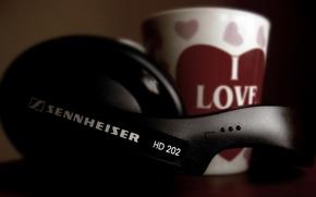 Picture music, music, headphones, headphones, sennheiser, HD202