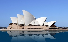 Picture sky, sea, Australia, Opera House