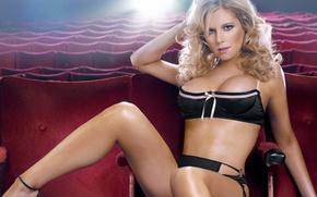 Picture look, chair, blonde, Abi Titmuss