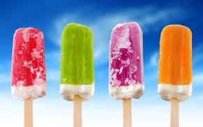 Wallpaper color, ice cream, food
