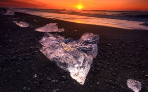 Picture Landscape, Water, Sunset, Sunrise, View, Ice, Sea, Cold