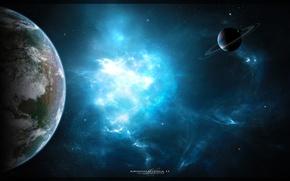 Picture space, nebula, planet, art, space, nebula, art, planets