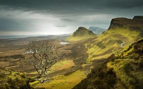 Picture mountains, nature, lake, panorama
