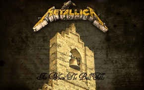 Picture text, the inscription, texture, logo, art, font, metal, metallica, song, bell, the bell tower