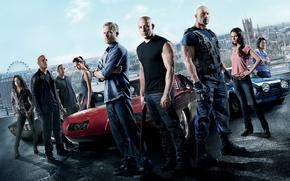 Picture VIN Diesel, Jordana Brewster, Jordana Brewster, Michelle Rodriguez, Paul Walker, Dwayne Johnson, Vin Diesel, Paul ...