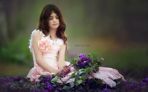 Picture flowers, mood, girl