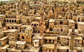 Picture building, roof, the minaret, Yemen, Arabia