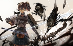 Picture girl, weapons, anime, bow, art, arrow, armor, kantai collection, the letter of, kaga