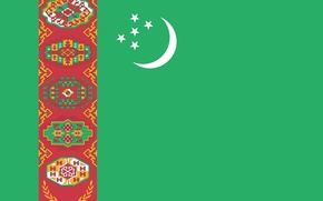 Picture green, colors, Turkmenistan