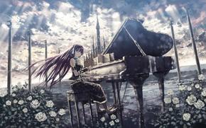 Picture Wallpaper, anime, piano