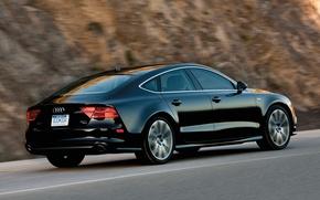Picture car, auto, black, audi A7