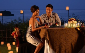 Picture romance, the evening, two, dinner