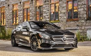 Picture black, Windows, Mercedes-Benz, Mercedes, AMG, Black, AMG, 2014, S 550, S-Class, C217