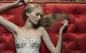 Wallpaper fashion, fashion, neckline, glamour, dress, girl, upholstery, Elias Wessel, sleep, model