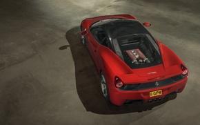 Picture Ferrari, Red, Power, 458, Italia, Photography, Supercar, Rear