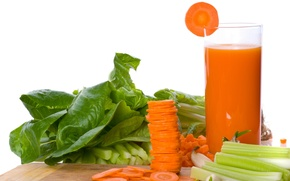 Picture freshness, glass, juice, carrots