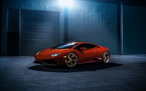 Picture LB724, red, Lamborghini, night, front, LP 610-4, Huracan