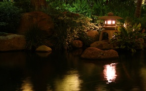 Picture water, nature, pond, lamp, lamp