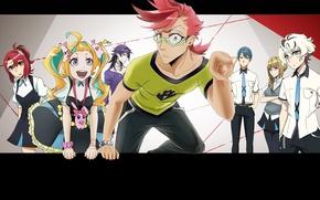 Picture girls, anime, art, guys, Kiznaiver