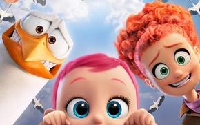 Picture kawaii, cinema, girl, Hunter, sky, design, woman, bird, cloud, feathers, pretty, cartoon, movie, face, animal, …