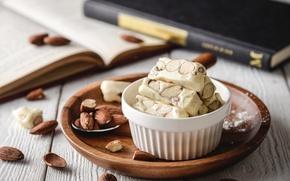 Picture nuts, dessert, almonds