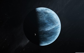 Picture space, light, blue, planet