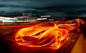 Picture machine, fire, flame, sport, super