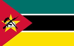 Picture flag, AK 47, Mozambique