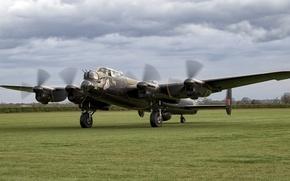 Wallpaper four-engine, bomber, heavy, Avro Lancaster