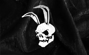 Picture black, skull, Bunny, ears