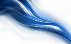 Wallpaper line, blue, curves