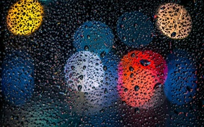 Picture glass, drops, background