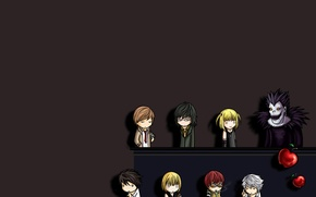 Picture death note, death note, chibi