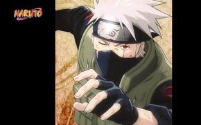 Picture hand, gloves, headband, Naruto, scar, vest, sharingan, ninja, Hatake Kakashi, Naruto shippuuden, by Masashi Kishimoto