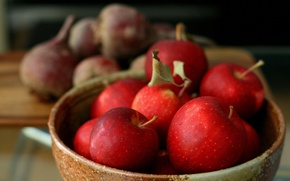 Picture apples, harvest, red, vitamins, dish, beets