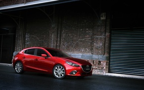 Picture Red, Car, Speed, Mazda 3, Wallpapers