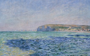 Picture landscape, picture, Claude Monet, Shadows on the Sea in Purvile