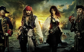 Wallpaper Pirates, sea, the banks, strange, Caribbean