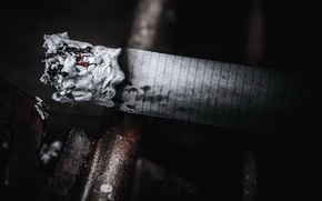 Wallpaper macro, ash, cigarette