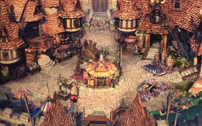 Picture street, home, roof, village, Final Fantasy