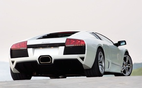 Wallpaper lights, Lamborghini, white, Murcielago