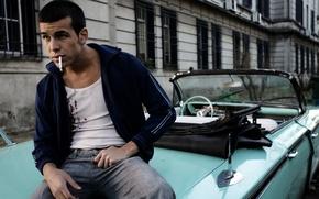 Picture machine, model, cigarette, actor, Mario Casas, Mario Casas